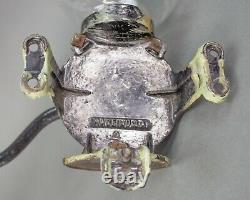 Arcade Crystal #3 Antique Wall Mount Coffee Grinder Cast Iron With Bottom Metal