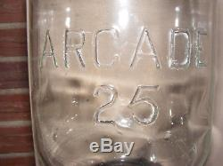 Arcade Crystal Coffee Bean Grinder- Antique Cast Iron Wall Mount Coffee Mill