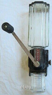 Arcade Crystal Coffee Grinder #9010 Art Deco All Original withCup Old Vtg Antique