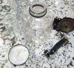 Arcade Hand Coffee Grinder Mill Glass Hopper Vtg Antique Complete & Working