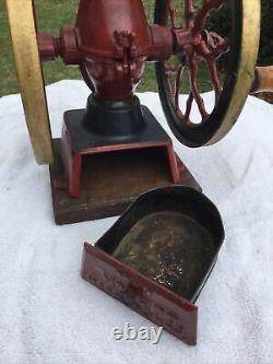 Best Antique Charles Parker Co Table Top Coffee Mill Grinder #200 March 9, 1897