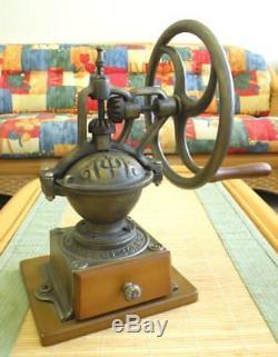 Big Wheel Vintage Manual Coffee Grinder, Antique, Unique Collectiable