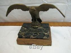Bronze/Brass Flying Eagle Dip Pen Holder Desk Marble Finial Coffee Grinder Top