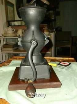Cast Iron Coffee Grinder, Antique by Enterprises Mfg. Co. Of Phil, Pa. Pat. Ap