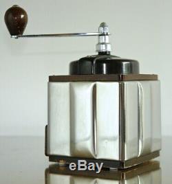 Circa 1946 Bakelite Stainless Wood Vintage PEUGEOT COFFEE GRINDER