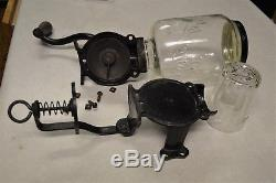 Classic Antique Victorian Era Arcade Crystal #3 Wall Mount Coffee Grinder MILL