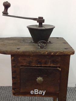 Coffee Grinder bench Antique Country Kitchen 25 Inch x 30 Inch x 15 inch