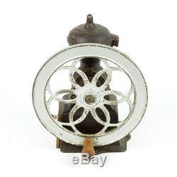 Coffee grinder Antique Original MJF Patentado cast iron single wheel mill Spain