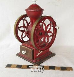 Countertop Antique Cast Iron Coffee Grinder Mill 6 3/4 wheels John Wright Inc