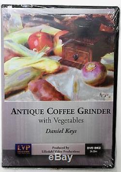 Daniel Keys Antique Coffee Grinder with Vegetables Art Instruction DVD