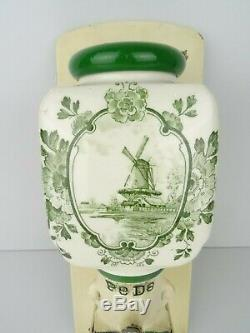 Delft Dutch Green Wall Coffee Mill PeDe Grinder Vintage (Zassenhaus era) Holland