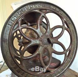 ENTERPRISE Coffee Grinder Antique 15 Tall 1870's Patents Cast Iron