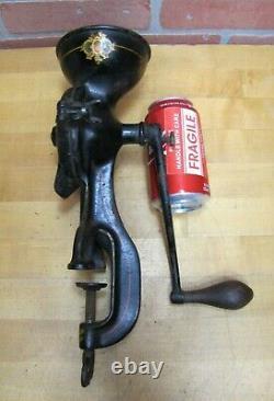 ENTERPRISE MFG CO No 0 PHILA USA Antique Cast Iron Coffee Grinder Detailed