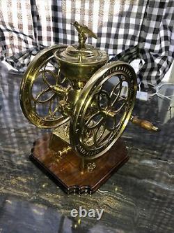 Enterprise 8.5 Double Wheel Coffee Grinder Mill Antique Table-top Eagle No. 123