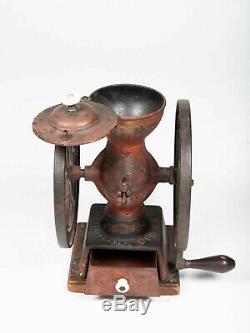 Enterprise Coffee Grinder Double Wheel Table Mill Antique #123