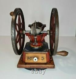 Enterprise Coffee Mill Grinder Model #5 late 1800's early 1900's all original