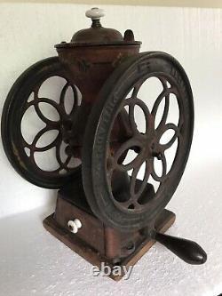 Enterprise Double Wheel Coffee Grinder Mill Antique Table-top 8.75 Wheels