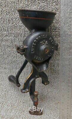 Enterprise Mfg. Co No 0 Cast Iron Antique Coffee Mill / Coffee Grinder