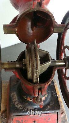 Enterprise No. 2 coffee mill, working, original paint & decals