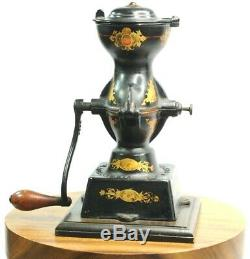Extremely Fine Enterprise No. 1 Cast Iron Coffee Grinder Mill Antique American
