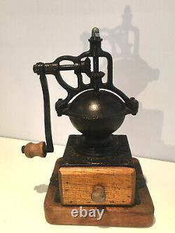 GRINDER COFFEE PEUGEOT FRERES BREVETES S. G. D. G VINTAGE Circa 1855 A0 Very Rare