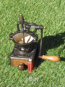 Grinder antique RETRO Coffee iron peugeot old crank Kaffee caffè machine MILL