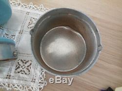 HOP 1er French Coffee Grinder Mill Manual Hand Crank Vintage Aluminum AS France