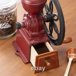 Kalita Antique Design Dial Mill N Red 42137 Cast iron Coffee Grinders Japan