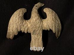 LARGE 19th Century Antique CAST BRASS EAGLE Flagpole Coffee Grinder Clock Finial