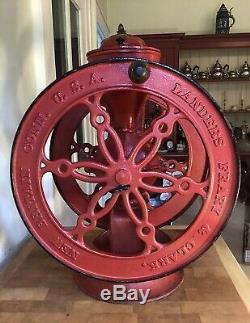 Landers Frary & Clark #55 Antique Coffee Grinder Mill / 22.5 H Pat. Oct. 1.1901