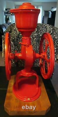 Large Vintage ELGIN National Coffee Mill Grinder Primitive Table Top Antique
