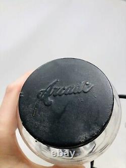 ORIGINAL Antique ARCADE Crystal Coffee Grinder No 3 with Catch Cup CLEAN