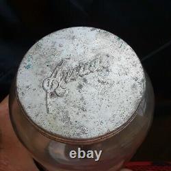 ORIGINAL Antique Arcade Crystal Wall no. 3 Coffee Grinder Jar with Lid