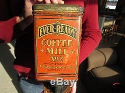 ORIGINAL EARLY 1900's EVER READY No2 COFFEE GRINDER / MILL BRONSON WALTON CO