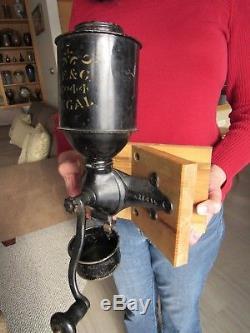 ORIGINAL c1915 LANDERS FRARY & CLARK COFFEE GRINDER / MILL RARE CORNER MOUNT