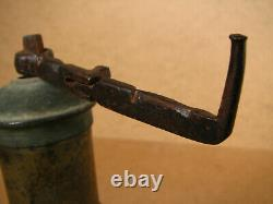 Old Antique Primitive Brass Pepper Coffee Grinder Mill Marked Signed 1935