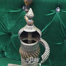 Orientalist Ottoman Arabic Islamic Palace Work Silver Coffee Grinder Coffee MILL