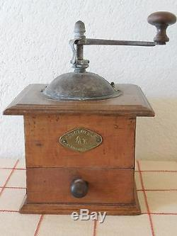 RARE ANTIQUE French COFFEE GRINDER MILL 1890's PEUGEOT&Cie PONT DE ROIDE