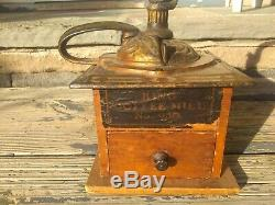 RARE ANTIQUE King NO 930 COFFEE MILL GRINDER ARCADE MFG CO