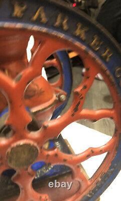 RARE ANTIQUE THE CHA'S PARKER CO. MERIDEN CONN. COFFEE GRINDER MILL! No3000