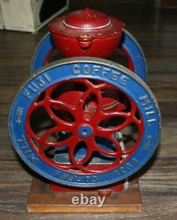 RARE Antique FUJI COFFEE MILL grinder similar to Enterprise #2 cast iron
