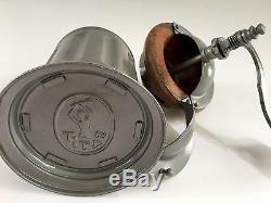 RARE+PRISTINE! Vintage/Antique TITAN German Sheet Metal+Wood Coffee Mill/Grinder