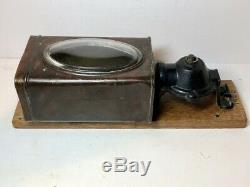 RARE Vintage Antique Coffee Mill Grinder Wall Mount Tin Can Early 1900