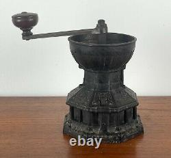 Rare 1890s ARCHIBALD KENRICK & Sons Cast Iron COFFEE GRINDER Dresser Design