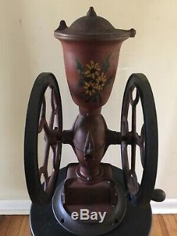Rare Antique 1897 The CHAS PARKER Cast Iron Country Store Coffee Grinder Mill