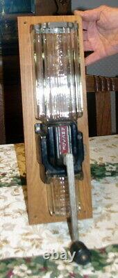 Rare Antique Art Deco Cast Iron 9010 Crystal Arcade Coffee Grinder / MILL