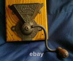 Rare Antique C. Parker Co. No 350 Wall Mount Cast Iron Coffee Grinder Late 1800s