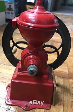Rare Antique Cast Iron Coffee Grinder Original Patentado Spain