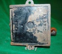 Rare Antique Kenricks Coffee Grinder MILL Cast Iron Brass Enamel No1 Kitchenalia
