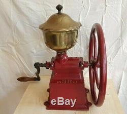 Rare Huge Antique Industrial Balance Wheel Coffee Grinder Peugeot C 4